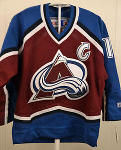 8a94f353c7e Image is loading CCM-Colorado-Avalanche-Joe-Sakic-NHL-Hockey-Jersey-
