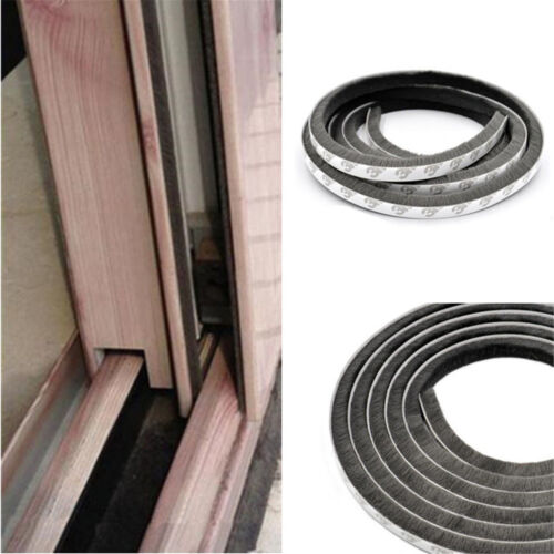 5M Self Adhesive Draught Excluder Brush Window Pile Seal Film Door Weather Strip