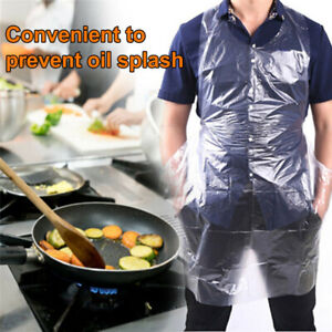 100Pcs-Pack-Disposable-Plastic-Aprons-Waterproof-Oil-Proof-Barbecue-Cooking