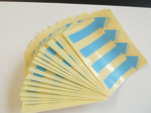 64x20mm Arrow Shape Removable Low Tack Stickers Coloured Sticky Labels