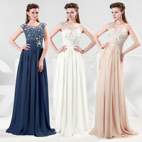 2014 Chiffon Long Formal Prom Party Bridesmaids Evening Gown Dress Size 6-20