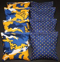 Corn Beanbags Made W University Of West Virginia Mountaineers Fabric Doublesided