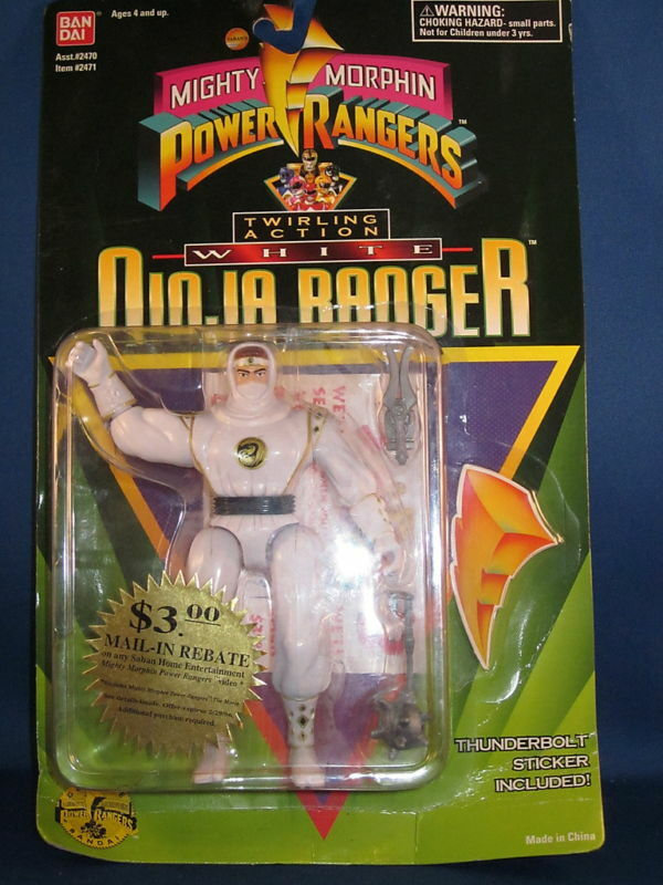 1995 Power Rangers Weiß Ninja Ranger