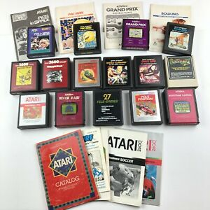 Atari-2600-Game-Lot-With-Some-Manuals-Vintage-15-Games-UNTESTED-Collector-Bundle