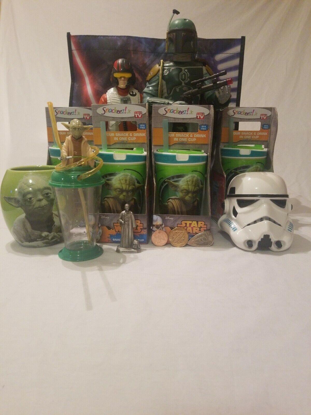 Star Wars Lot Yoda Skywalker StormTrooper Boba Fett Darth Vader Poe Dameron