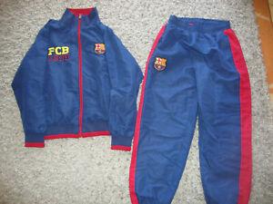Détails sur Survêtement foot veste et pantalon Equipe FCB FC Barcelone 12 ans