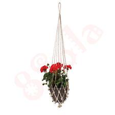Classic Macrame Decorative Handmade Plant Hanger Natural Jute Twine Basket D03