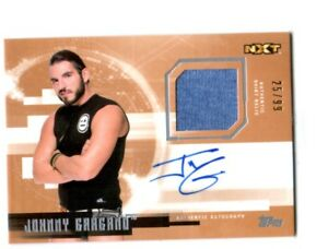 WWE-Johnny-Gargano-2017-Topps-Undisputed-Bronze-Autograph-Relic-Card-SN-25-of-99