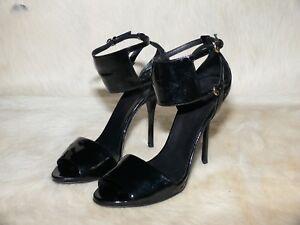 1ab7629c2f7 GUCCI Sand Pelle S. Cuoio Womens Heel Sandals Nero Size 9 B ...