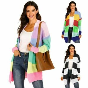 Cardigan-Knitted-Loose-Long-Long-Sleeve-Sweater-Jacket-Casual-Womens-Outwear
