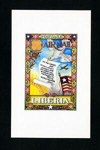 Liberia-Stamps-Arthur-Szyk-Album-Page-Art
