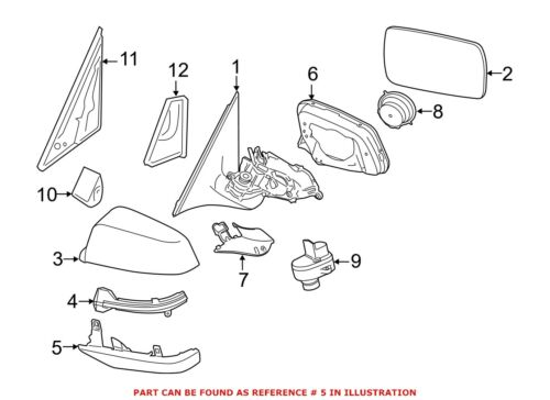 For BMW Genuine Door Mirror Cover Front Right Lower 51167308656