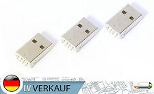 USB typ a Type A Stecker 3er DIY Pack für Arduino Prototyping