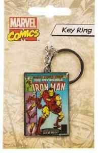 NEW-Marvel-Comics-Iron-man-Metal-KEYRING-KEYCHAIN