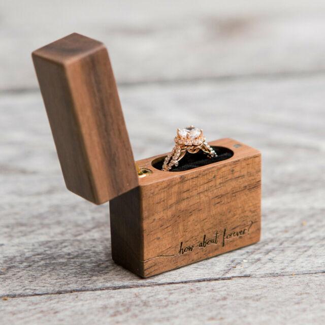 Engagement Ring Box Sale: Bearer Pillow Box Ring Gift Engagement Wedding Rustic