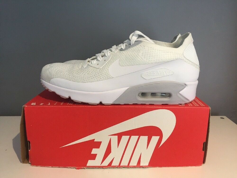 NIKE AIR MAX 90 ULTRA 2.0 FLYKNIT herren TRAINERS Größe UK 13 EUR 48.5