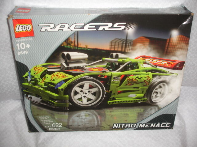Nuevo Lego Racers Nitro amenaza 8649 retirado 2005 completa coche raro verde