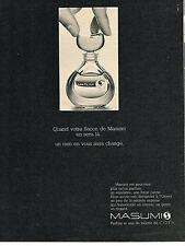 PUBLICITE ADVERTISING 064  1969  COTY   parfum MASUMI