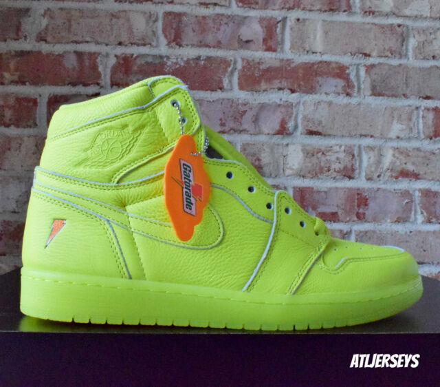 discount shop various colors top fashion Nike Air Jordan 1 Retro Hi OG G8rd Cyber Yellow Lime Gatorade Aj5997 345  Size 10