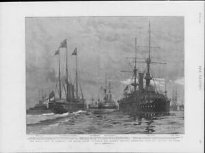 1901-Antique-Print-ROYALTY-King-Germany-Victoria-Albert-Sheerness-Yacht-211