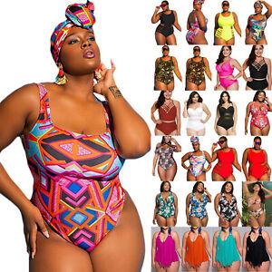design di qualità da944 b7fdd Dettagli su Taglie Comode Donne Intero Costume da Bagno Bikini  Abbigliamento Spiaggia