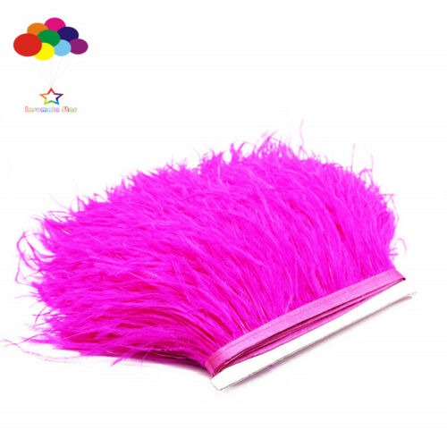 À faire soi-même Vin Rouge 1//5//10 mètre Ostrich feather Chiffon Enjoliveurs 3.15-6 pouces//8-15 cm Carnaval