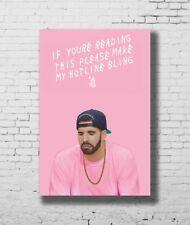 Drake Music Album Hip Hop Art Hot 12x18 24x36in FABRIC Poster N3420