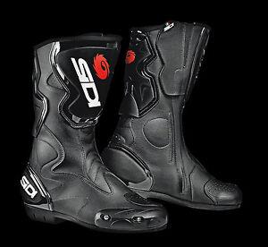 NEU-SIDI-Motorradstiefel-Fusion-schwarz-Gr-42-Racing-Motorrad-Stiefel-NEW