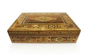 Schmuckkasten-Holzschatulle-Box-Kaestchen-Mosaik-Kunsthandwerk-Damaskunst-K2-3-41