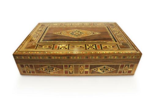 Schmuckkasten Holzschatulle,Box,Kästchen,Mosaik Kunsthandwerk Damaskunst K2-3-41