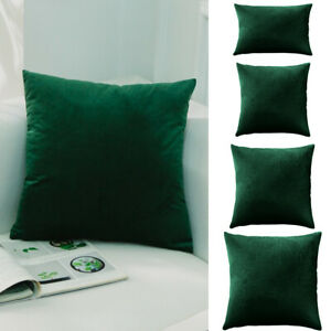 Emerald Green Velvet Pillow Cover Throw