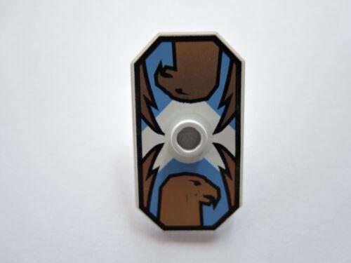 LEGO 1 X BOUCLIER octogonale 48494pb03 bleu clair HAWK Jayko 8781 8799 8779