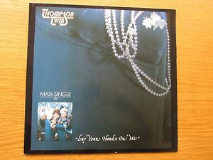 THOMPSON-TWINS-Lay-Your-Hands-On-Me-1984-GERMAN-PRESSING-12-034-VINYL-SINGLE-MAXI
