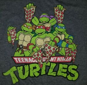 286520b0a LARGE Teenage Mutant Ninja Turtles Pizza Party T-shirt Punk Rock ...
