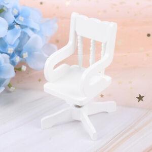 De Wooden Miniature Dollhouse White 1 12 Dolls House Furniture Swivel Detalles Chair Decor f7gybY6v
