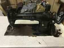 Antique Singer Model 96 10 Sewing Machine With Table Motor And Pedals