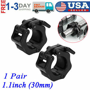 30mm Barbell Dumbbell Lock Clamp Spring Collar Clip for Training Weightlifting