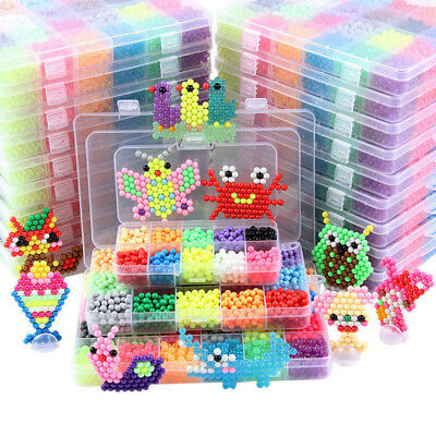 5200x Aquabeads Glitzer Set DIY Basteln Kinder Bastelset Glitzerperlen Perlen