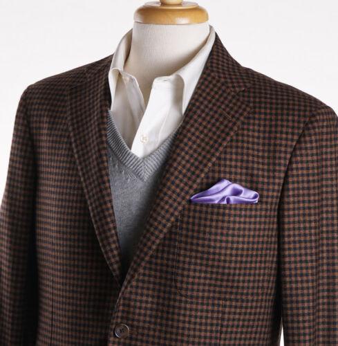Bruin zwart Nwt2395 R Check Wool kasjmier 40 Belvest Camel Sportjas 3Aj5L4qR