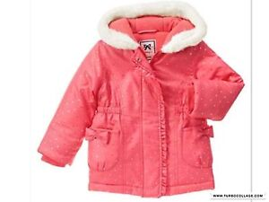 bea547687 GYMBOREE Girls Warm Hooded Coat Jacket Enchanted Winter NWT SIZE 3T ...