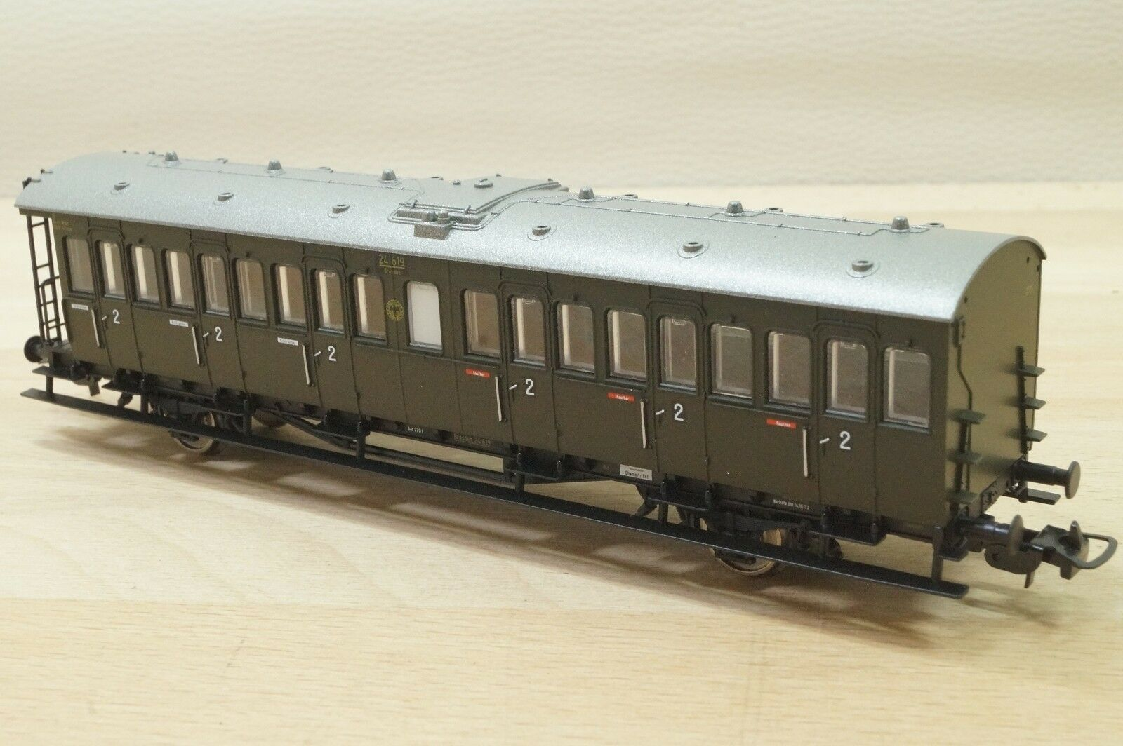 Piko 53140  Personenwagen 2. 2. 2. Klasse BSa13  N° 24 619 der DRG Sachsenwagen,  Neu d47503