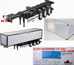 1-14-Aluminium-Frame-Container-20FT-40FT-RC-Tamiya-Scania-R620-Actros-Trailer