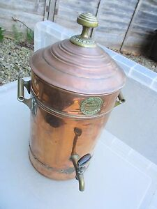 Antique copper hot water urn tank samovar kettle brass for Copper hot water tank