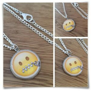 Emoji-Zipper-Mouth-Zip-Face-Quiet-Charm-pendant-necklace-txt-geek