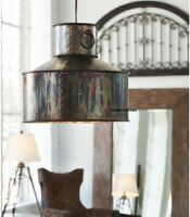 Farmhouse Antique Verdigris Copper Light Fixture Pendant Kitchen Chandelier
