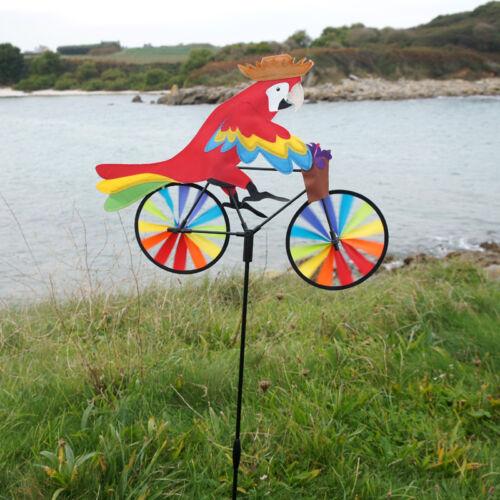 Weather vane-windmill-aeolian bike parrot 50 x 48 x 105 cm
