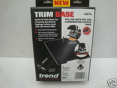 TREND CRB COMBINATION ROUTER TRIM BASE TRIMMING ATTACHMENT CRB/TB