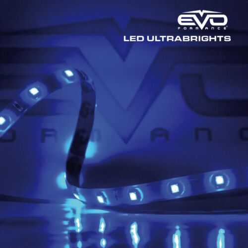 "8/"" Super Blue UltraBrights LED Flexible 12V Car//Truck Waterproof Light 3M Strip"