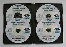 139,877 Macchine Brother babylock formato PES ricami Designs - 4 DISC BOX SET