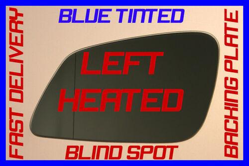 BMW 5 SERIES F10 F11 2010 DOOR WING MIRROR GLASS HEATED BLUE BLIND SPOT LEFT